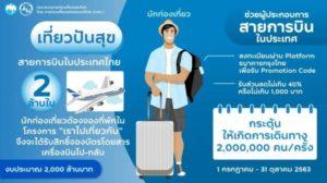 แจกส่วนลดค่าตั๋วเครื่องบิน และ ค่าเดินทางให้กับประชาชนทั่วไป