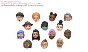New Memoji Styles and Sticker
