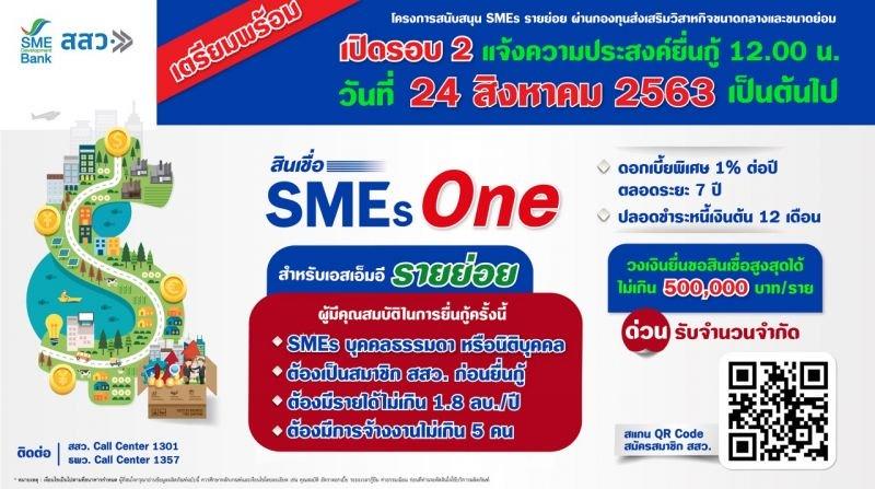 """เปิดแล้ว """"สินเชื่อ SMEs One"""" รอบ 2 ยื่นกู้ออนไลน์เท่านั้น!"""