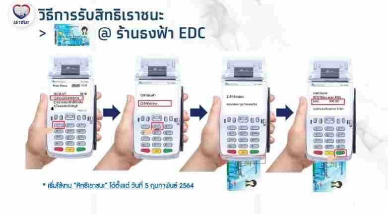 บัตรคนจนใช้จ่ายผ่านเครื่อง EDC