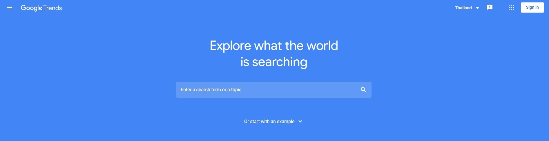 เปิดรายละเอียดการใช้งาน Google Trends